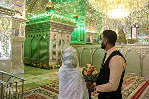 Newlyweds Start Married Life with Ceremony on Eid al-Ghadir